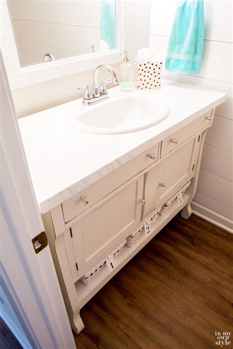 how to repurpose furniture how to repurpose a sideboard into a sink vanity in my