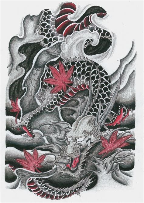 tattoo flash clothing japanese dragon dragones orientales pinterest
