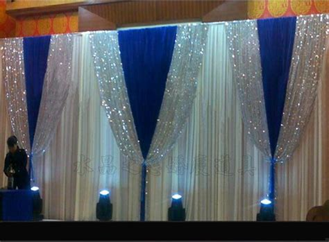 mm pure white wedding stage background silk drape