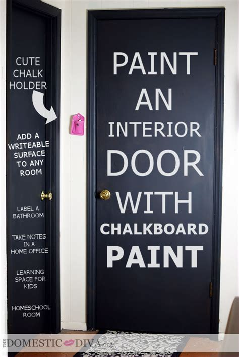 chalkboard paint on cardboard diy paint an interior door with chalkboard paint for a