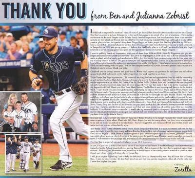 Ben Zobrist Thank You Letter in ben zobrist dayton just acquired five of the