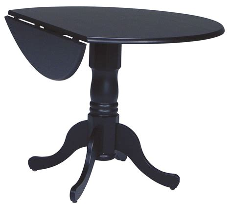 Black Drop Leaf Table Dining Essentials Black 42 Quot Drop Leaf Dining Table T46 42dp