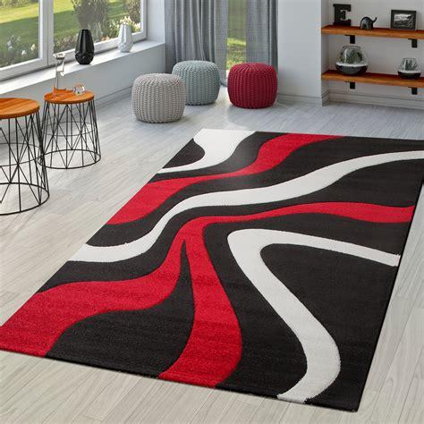 teppich rot schwarz teppich rot schwarz wei 223 wohnzimmer teppiche modern mit