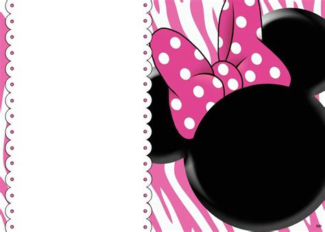 minnie mouse birthday template blank minnie mouse birthday invitations templates