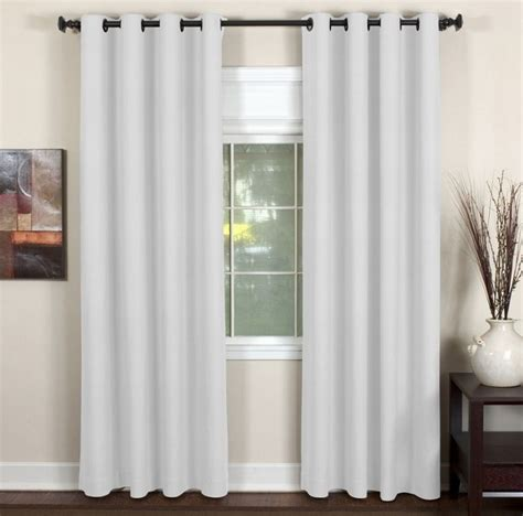 Dining Room Curtains And Valances Elrene Window Treatments Essex Grommet White Window Panel
