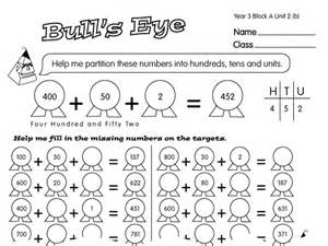 bull s eye a year 3 partitioning worksheet