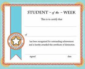 Classroom Certificates Templates by Free Printable Student Of The Week Certificate Back To