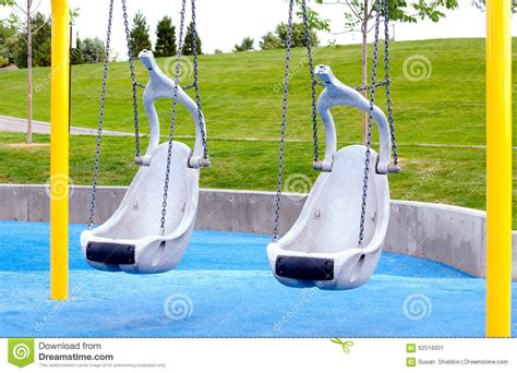 swings for older children handicapped swings on playground stock photo image 62516001