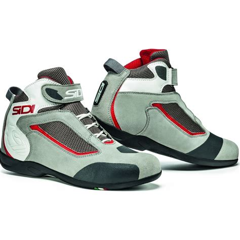 low cut biker boots sidi gas leather motorcycle boots motorbike low cut