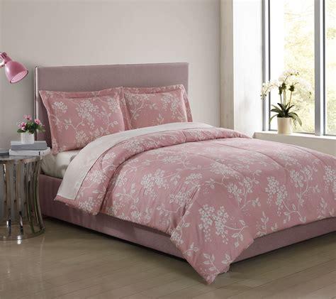 essential home comforter set essential home 3 piece microfiber comforter set floral