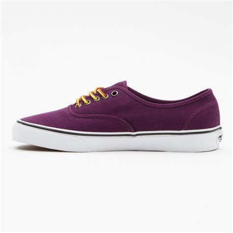 vans u authentic hiker canvas italian plum skate shoes