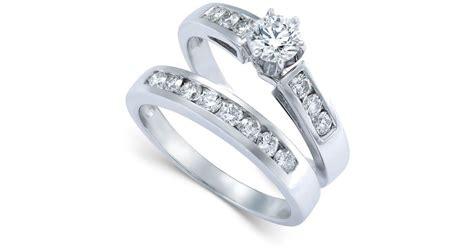 macy s engagement ring bridal set in 14k white