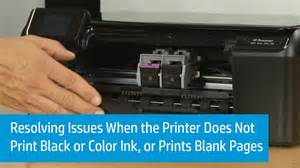 why is black not a color resolving issues when the printer does not print black or