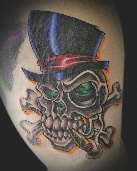 skull with tophat tattoo tophat skull by rowe tattoonow