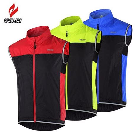 Sweater Jaket Murah Cylin Jaket arsuxeo cycling vest mtb bike bicycle breathable windproof vest waterproof clothing sleeveless