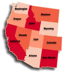 united states west map western us map