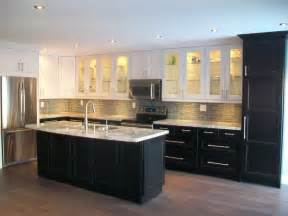 Idea Kitchen by Ikea Kitchens Ramsjo White And Ramsjo Black Brown
