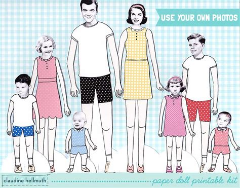 Printable Paper Doll Family | 8 best images of family paper dolls printable family