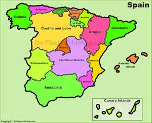 Political Map Of Spain by Political Map Of Spain Pictures To Pin On Pinterest