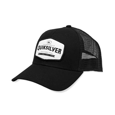 Trucker Hat Trucker 1 quiksilver hold patch trucker hat in black for lyst