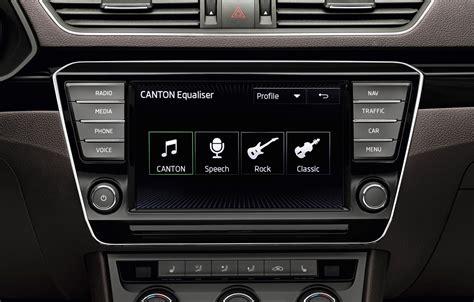 canton skoda skoda a lansat un sistem audio canton pentru noul superb