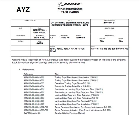 Task Card Template Doc by Are Task Cards Still Used In Aircraft Maintenance