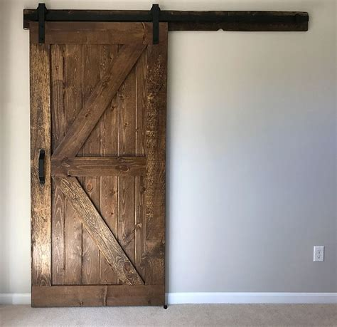 build and install a sliding barn door diywithrick diy furniture decor barn