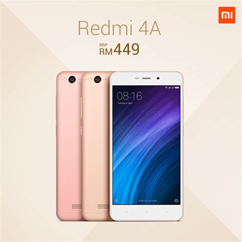 Hp Xiaomi Redmi 2 Malaysia xiaomi redmi 4a goes official in malaysia for rm449 mdroid