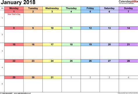 january to april 2018 calendar 4 month 2018 calendar one page