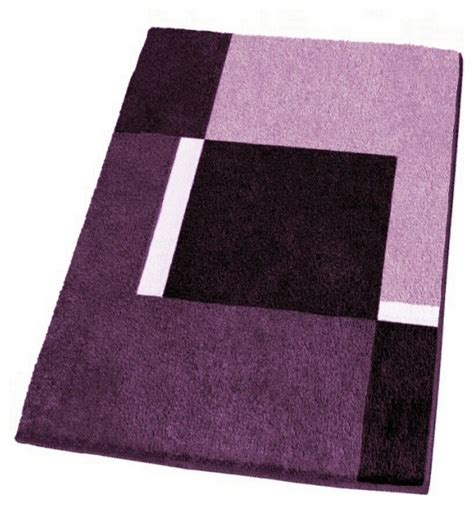Purple Bathroom Rugs Modern Non Slip Washable Purple Bath Rugs Small Modern Bath Mats Other Metro By Vita Futura