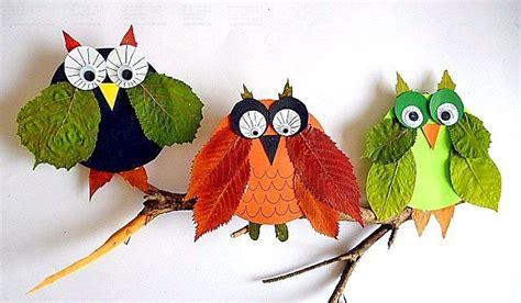 Herbstdeko Zum Basteln by Bild 4 Herbstdeko Basteln Eulen Auf Ast