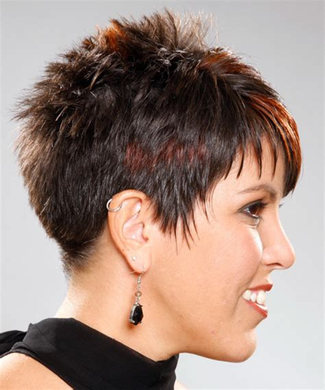 spiked wedge bob short straight alternative hairstyle
