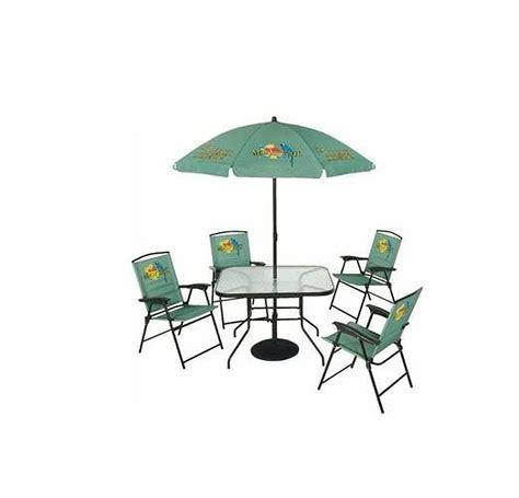 margaritaville 6 folding patio set blue ebay