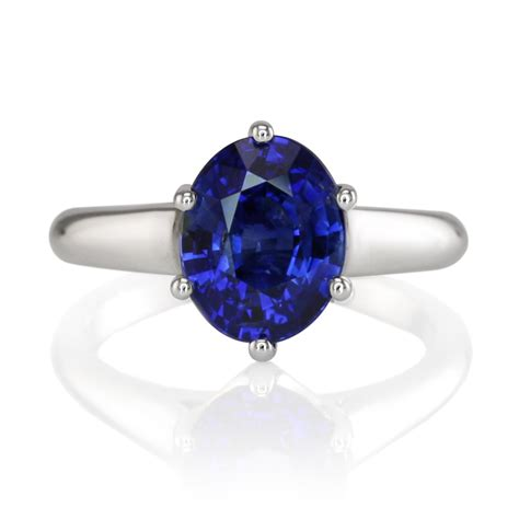 a engagement oval blue sapphire ring