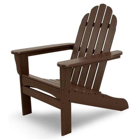 leisure fern plastic adirondack chair   home depot