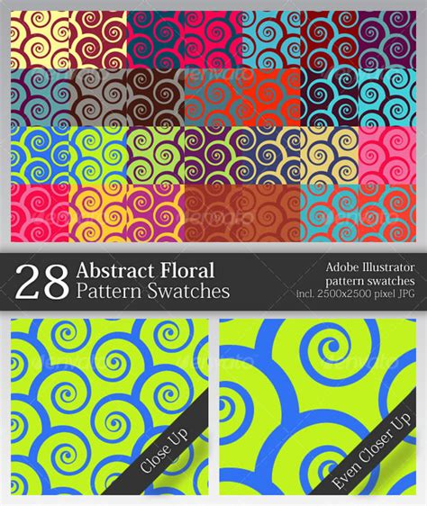 add pattern swatch to illustrator 28 abstract floral pattern swatches abstract textures