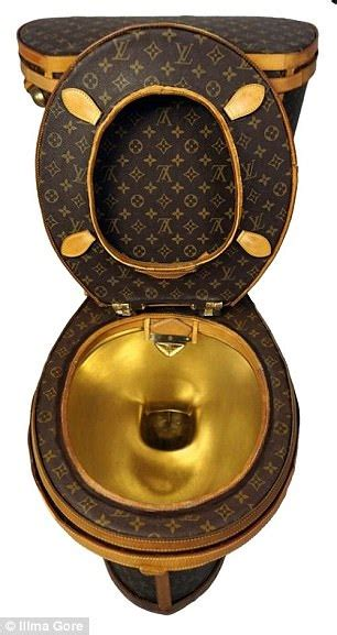 flush    designer louis vuitton toilet