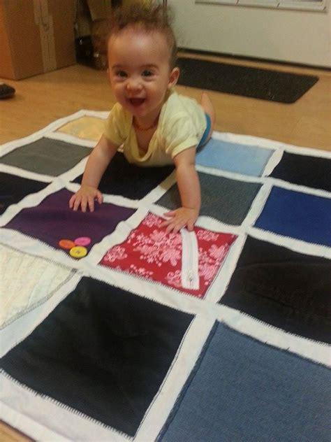 Montessori Mats by Diy Montessori Fabric Sensory Play Mat For A Baby