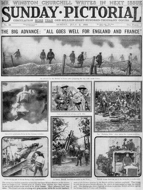 newspaper layout disasters how britain learned of the somme disaster history and wwi