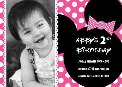 minnie mouse 1st birthday invitations birthday party