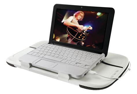 Logitech Laptop Desk Logitech Speaker Lapdesk N550 Brings Big Sound To Small Notebooks