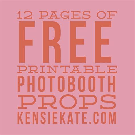 Photobooth Selfie Happy Wedding Birthday Wedding Wisuda 12 pages of free printable photobooth props kensie kate