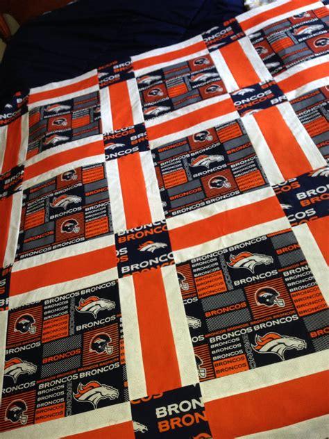pattern maker denver denver broncos quilt