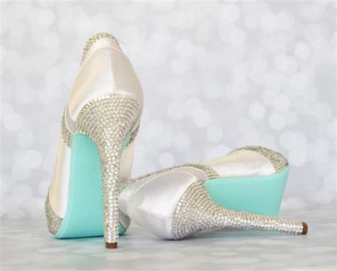 Wedding Shoes With Platform by Wedding Shoes White Platform Peep Toe Wedding Shoes