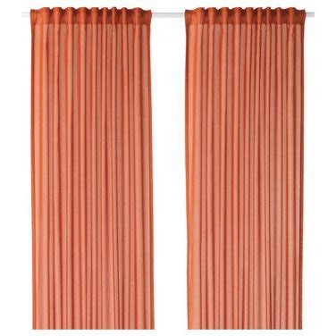 98 length curtains ikea vivan curtains drapes orange 2 panels ice 98 quot length