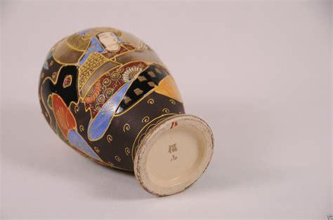 Japanese Porcelain Vases Antique Japanese Satsuma Vase Signed Moriage Meiji Pottery
