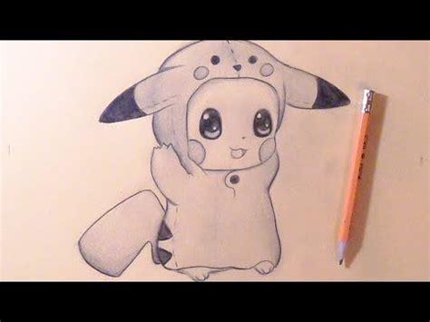 C 243 Mo Dibujar Chibi Pikachu Beb 233 Con Gorro De Pikachu How