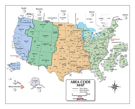 all us area codes map usa colorful map mapsofnet 36x48 hammond united