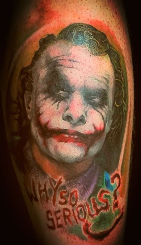 heath ledger tattoo heath ledger joker superheroes
