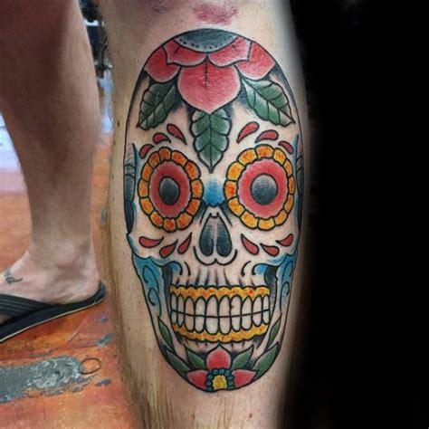 colorful skull tattoos 100 sugar skull designs for cool calavera ink